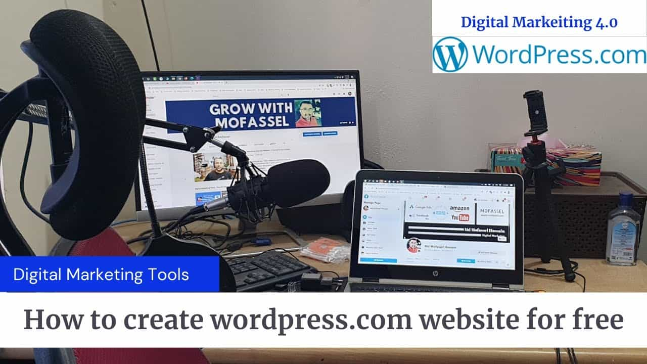 how to create a WordPress com website for free